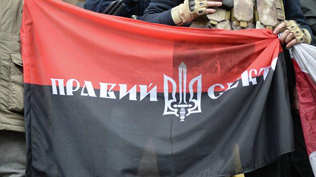 Над Борисполем взвился красно-черный флаг