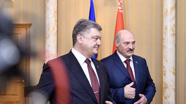 Голая девушка попыталась сорвать встречу Порошенко и Лукашенко