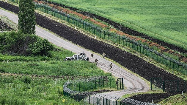 Кабаны сокрушили «Стену» на границе Украины с Россией