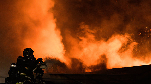 Во Львовской области сгорел бывший коллегиум иезуитов