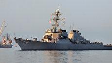 Фрегат флота России приступил к слежению за американским эсминцем в Черном море