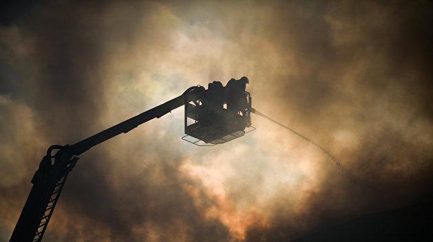 В Черновцах загорелся один из крупнейших рынков на Украине