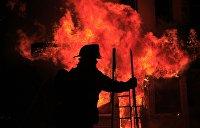 Ночной пожар в Киеве: На Днепре сгорел плавучий ресторан