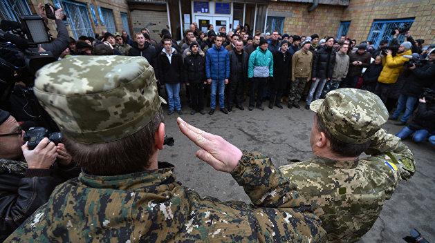 Украинский Кабмин уменьшил количество призывников