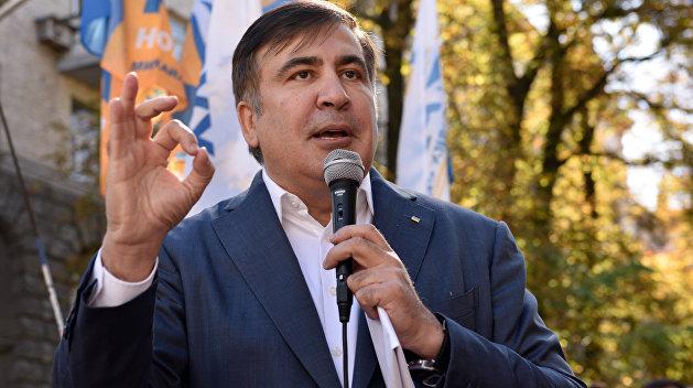 Сторонники и противники Саакашвили устроили драку в Одессе