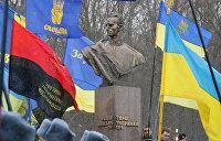 Жители Житомира восприняли бандеровский флаг без энтузиазма — видео