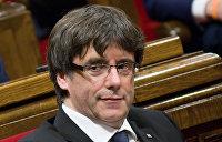 Пучдемон призвал каталонцев оказать мирное сопротивление Мадриду