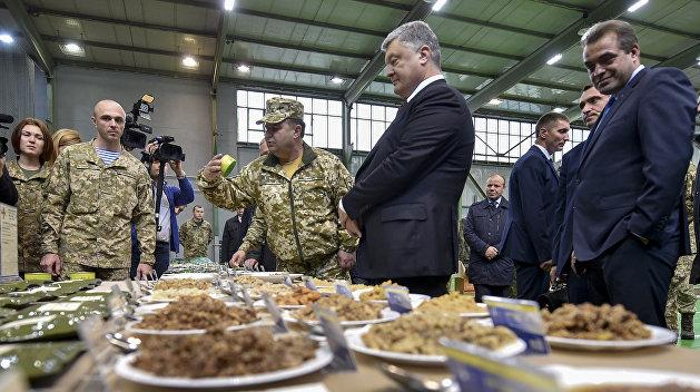 «Тушенка как сопли»: украинские военные показали, чем их кормит Порошенко