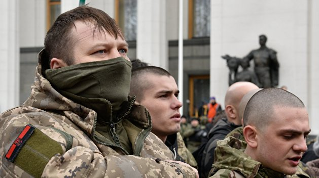 У здания украинского парламента палят пушки