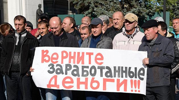 Украинские шахтеры перекрыли таможенный пункт на границе с Польшей