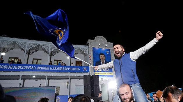 Партия Саакашвили с треском провалила очередные выборы в Грузии