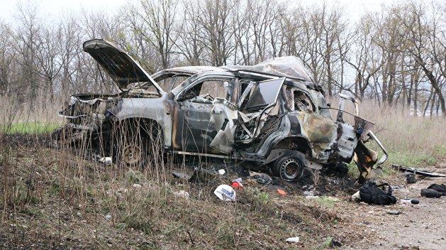 Олейник: А не устроил ли режим Порошенко взрыв машины ОБСЕ?