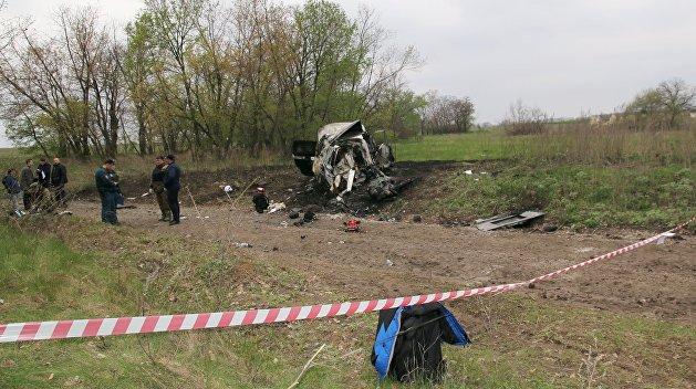СБУ назвала терактом подрыв машины ОБСЕ