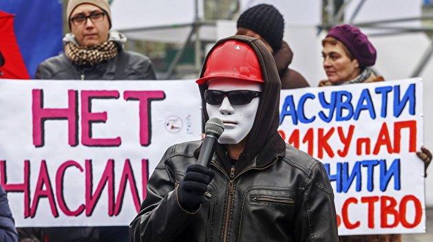 На Майдан вышли работницы секс-индустрии, они протестуют