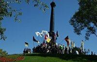 Националисты из С14 сообщили о надругательстве над Александровской колонной в Одессе