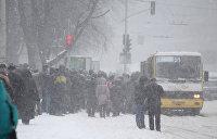 Украину завалило снегом: 150 населенных пунктов обесточены