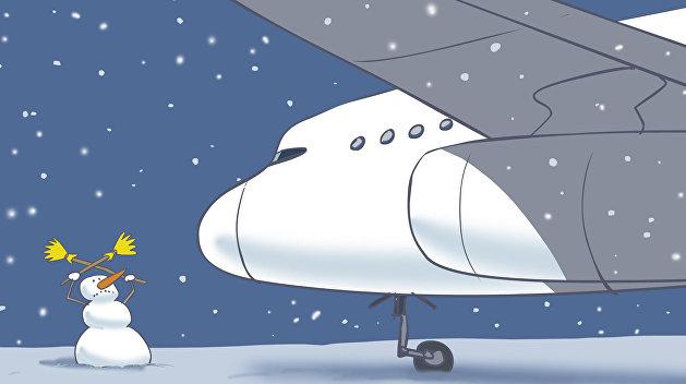 Полетели: на борьбу с последствиями снегопада брошена авиация