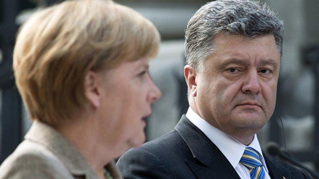 Германия требует от Порошенко сделать выбор: страна или деньги