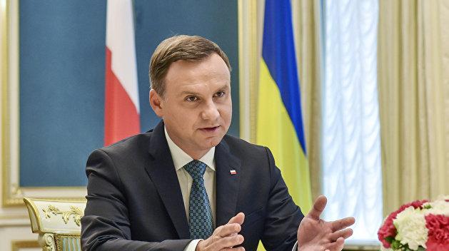 Президент Польши назвал «Северный поток — 2» угрозой для Украины