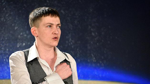 Савченко спела в прямом эфире