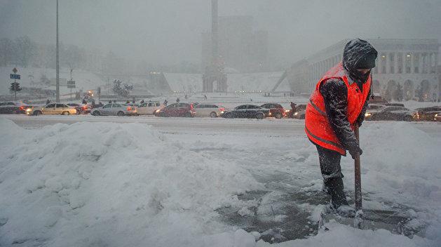 На Украине ожидают снег, гололед, метель