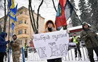 Радикалы блокируют российское консульство в Одессе