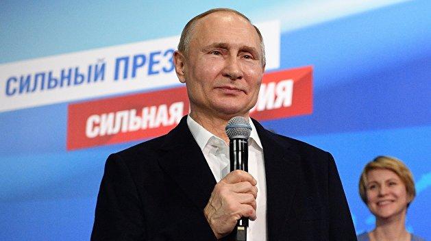 Путин побеждает на президентских выборах с рекордным результатом