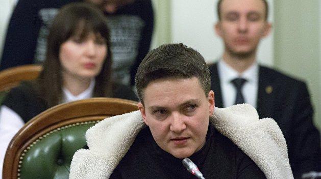 Савченко обвинила парламент в нежелании  прекратить войну в Донбассе