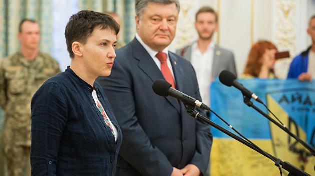 Порошенко ищет способ лишить Савченко звания Героя Украины