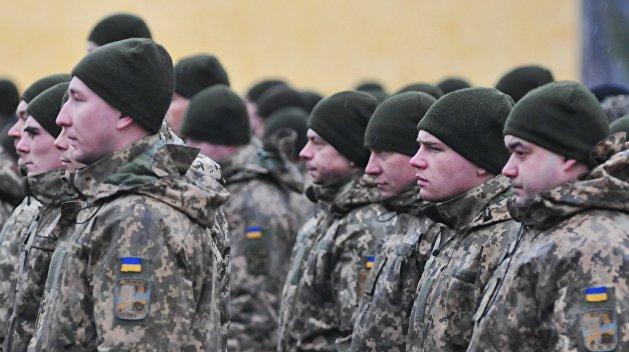 Украинские военные объявили голодовку под зданием Минобороны