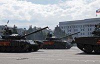 ВСУ обстреляли военную технику, которую в ЛНР готовили к параду 9 мая