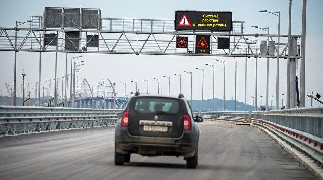 Аксенов рассказал, когда первые автомобили поедут по Крымскому мосту