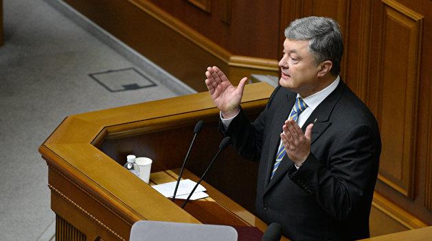 Порошенко предложил лишать украинского гражданства крымчан, получивших российские паспорта