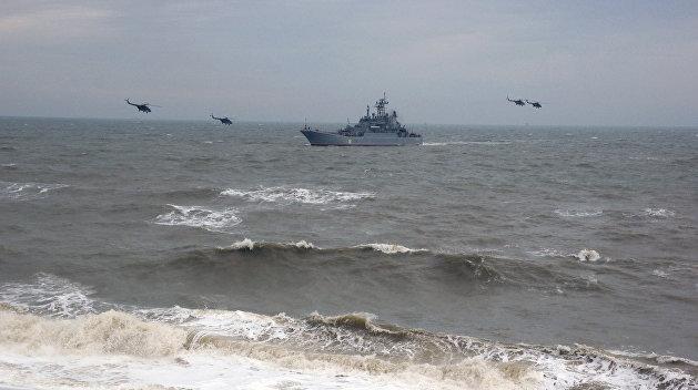 Корабли Черноморского флота ведут морской бой в Средиземном море