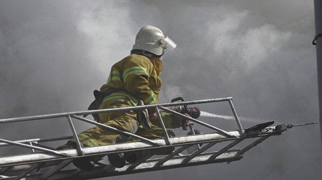 Киевские полицейские устроили пожар, который видел весь город