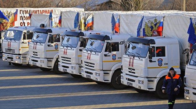 57-й по счету Гуманитарный конвой МЧС РФ прибыл в Донбасс