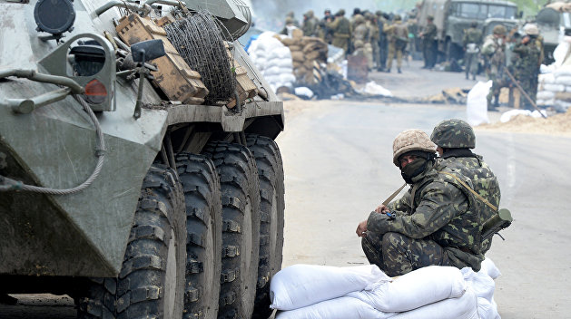 Украинцы под Горловкой попытались остановить части ВСУ