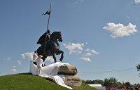 В Киеве открыли памятник Илье Муромцу. Фоторепортаж