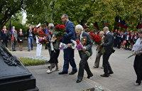 Жители Донецка празднуют 75-летие освобождения Донбасса от фашистов. Фоторепортаж