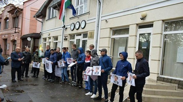 «Свобода» пикетировала консульство Венгрии в Берегове
