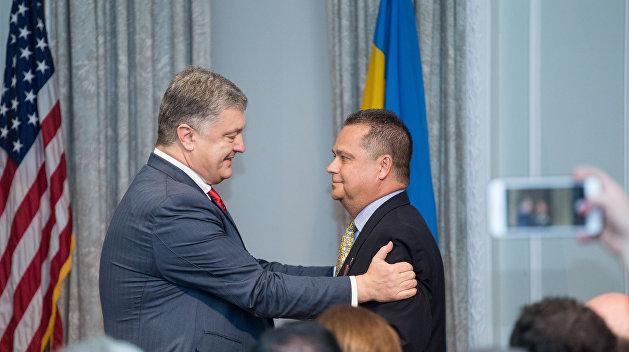 Порошенко вручил награды американцам и представителю Греко-Католической церкви