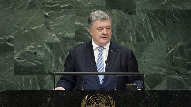 Порошенко требует наказать Россию из-за ситуации в Азовском море