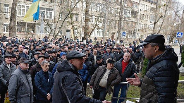 Сотрудники «Южмаша» пикетируют Министерство юстиции Украины