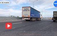 Мечта дальнобойщиков сбылась: Фуры едут по Крымскому мосту