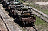 Представитель ЛНР: В Донбасс прибыли два железнодорожных состава с украинскими танками