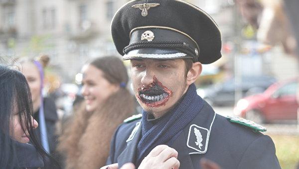 Черти, ведьмы и рыцари тьмы: «парад зомби» в Киеве. ФОТОРЕПОРТАЖ