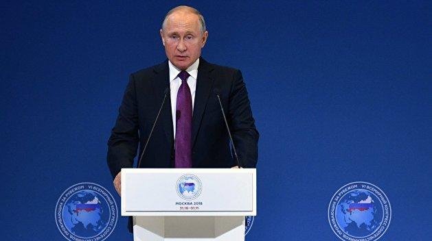 Путин предостерег от попыток разорвать духовные связи в русском мире