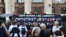 На Куликовом поле сожгли цветы и памятные таблички о трагедии 2 мая