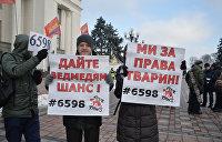 Митинг за права животных в Киеве. Фоторепортаж