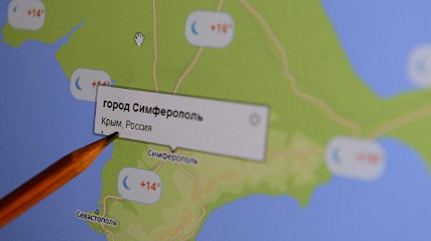 Картографический сервис OpenStreetMap: Крым — это часть России